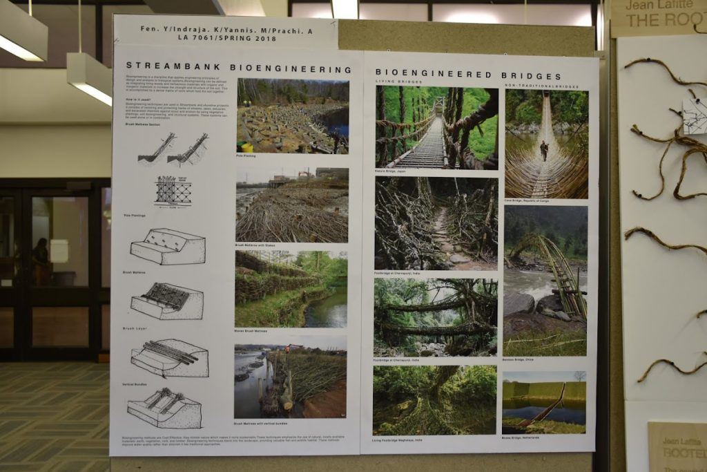 Students presented their design for a Jean Lafitte's wetland park.