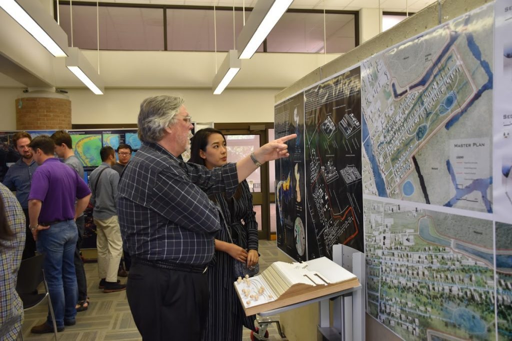 Exhibition exploring stormwater management.