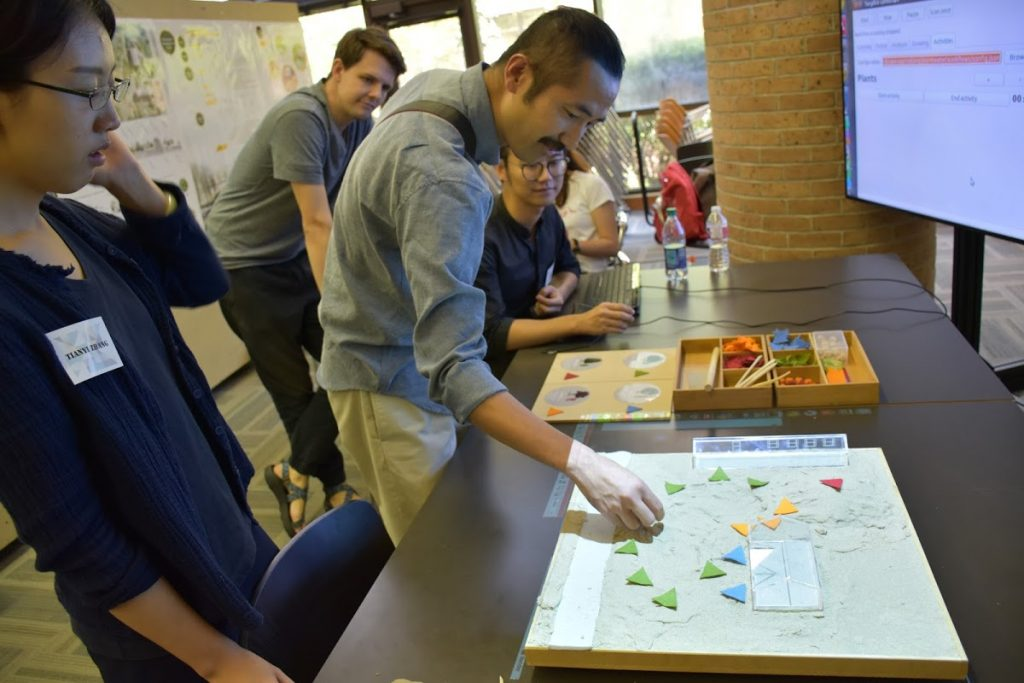 Players played game simulating stormwater management.