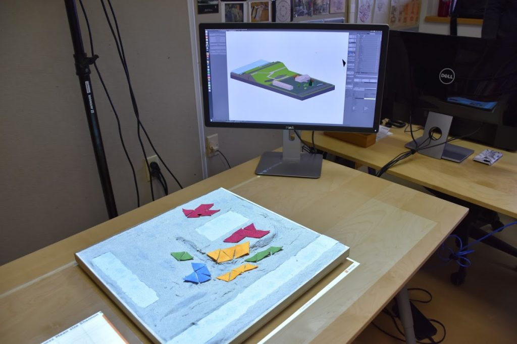 Sculpting the sand model changes the hydrologic simulation