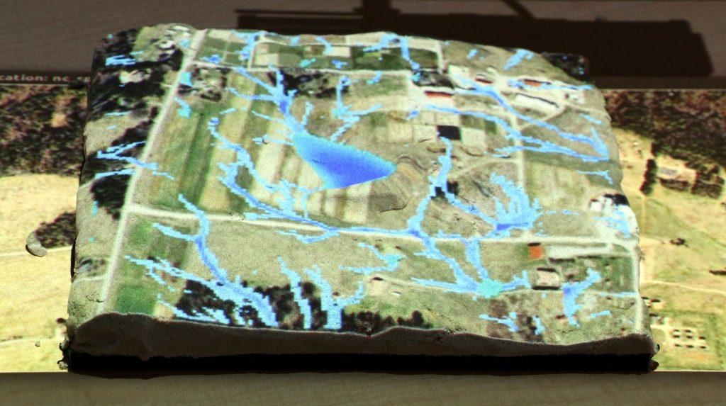 Tangible Landscape model simulation