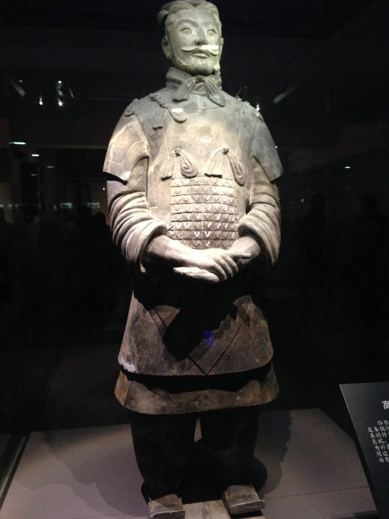 Ceramic warrior still standing after hundreds of years