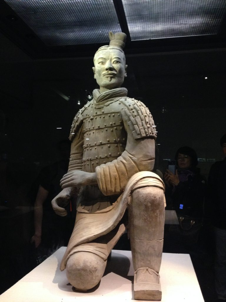 Terracotta warrior kneeling