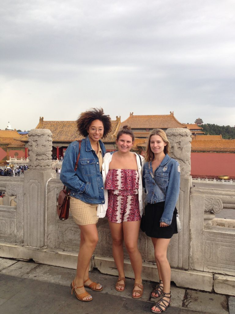 Students visit Beijing, China.