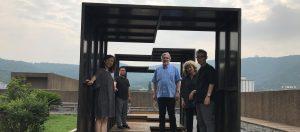Art & Design professors in garden in China