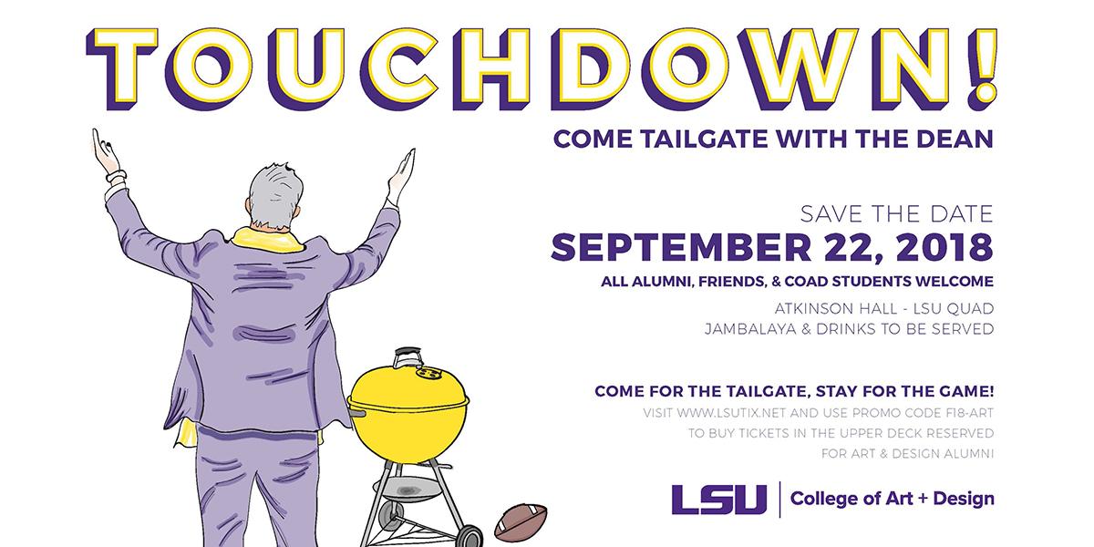 Touchdown, 2018 Dean's Tailgate poster