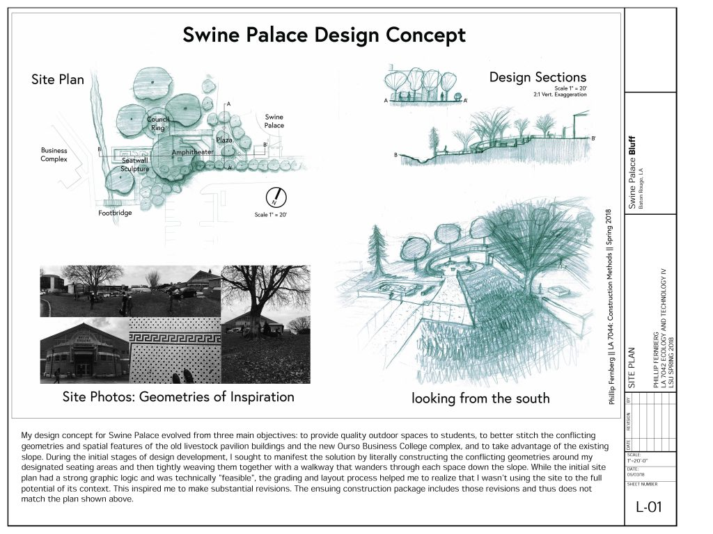 Swine palace design concept sketches