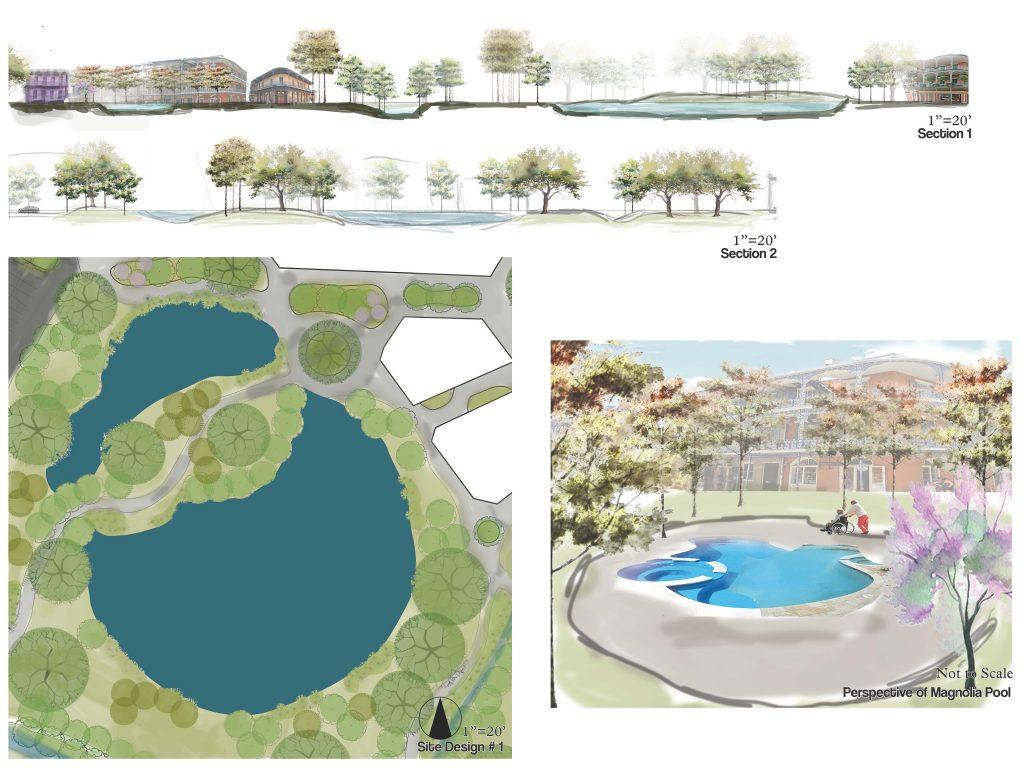 Retirement community design concept images