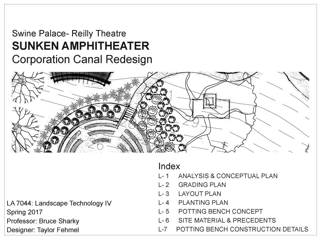 Swine palace sunken amphitheater redesign table of contents