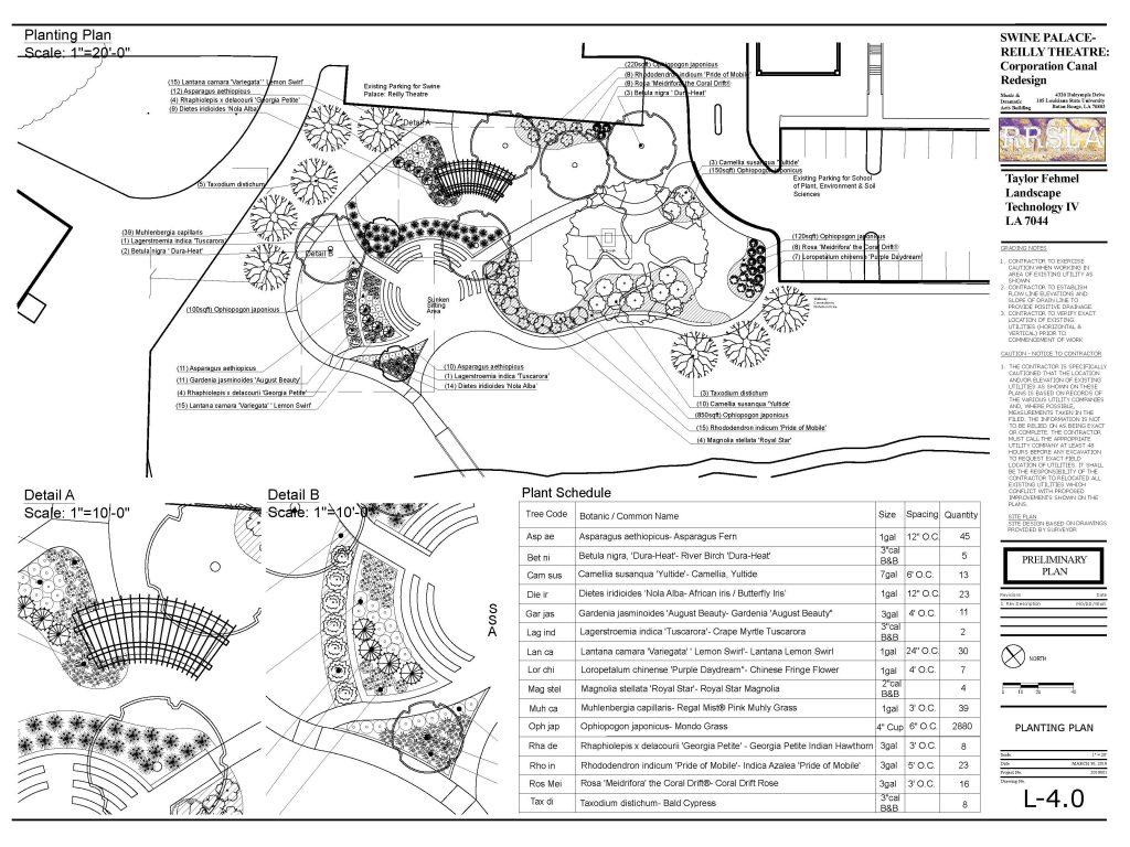Swine palace planting plan