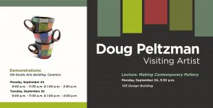 Poster for a lecture by Doug Peltzman
