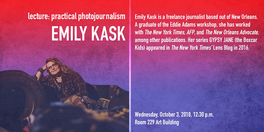 """lecture """"practical photojournalism"""" by Emily Kask"""