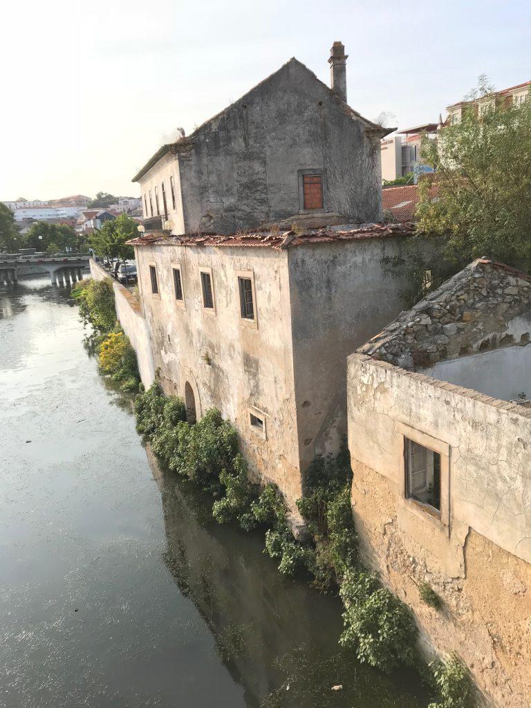 Buildings alongside a river
