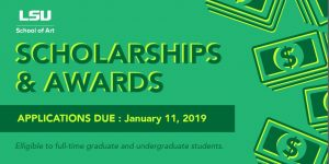 School of Art Scholarships and Awards poster