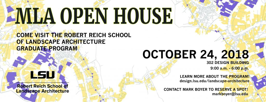 MLA Open House Oct. 24 Promotional poster