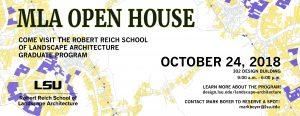 MLA Open House Oct. 24