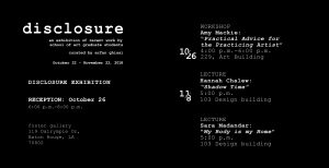 Disclosure Exhibit poster with lecture times