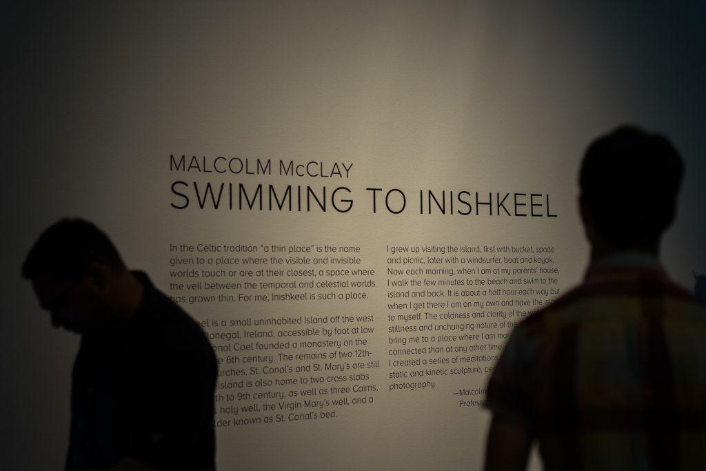 Swimming to Inishkeel exhibition intro