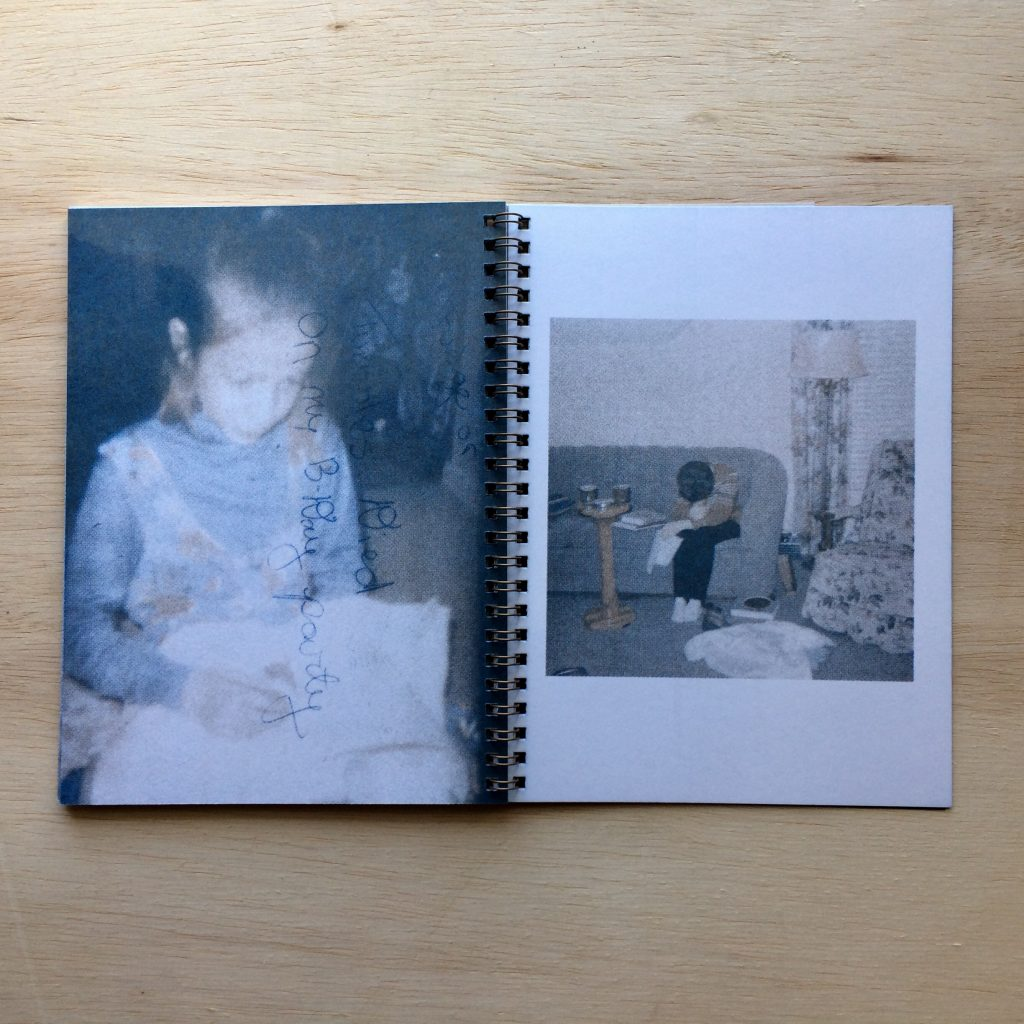 Photo of little girl inside book