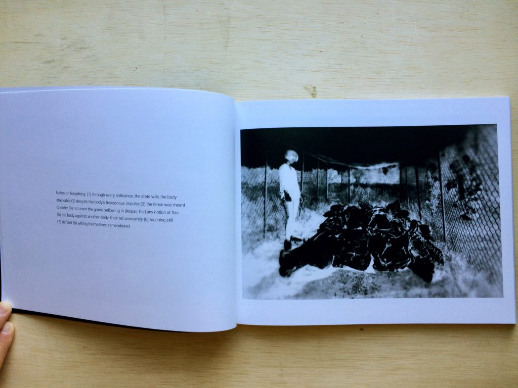 Black and white photos inside a book