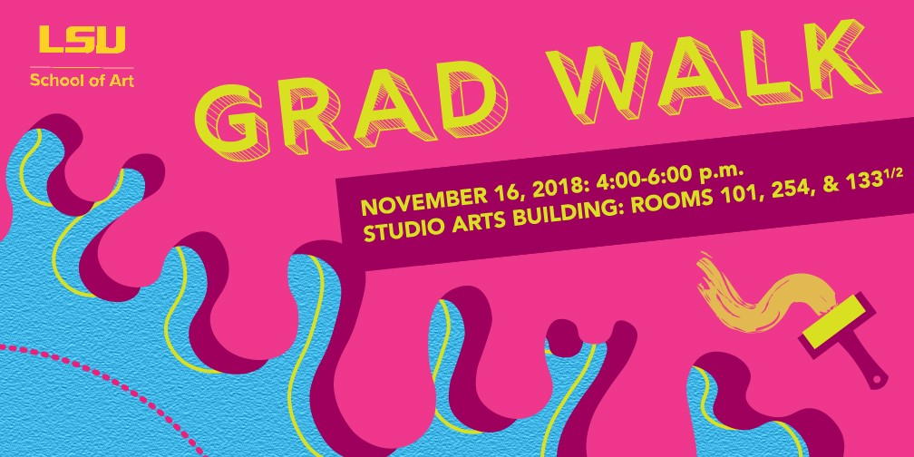 LSU School of Art Grad Walk Nov. 16, 2018
