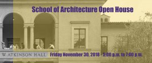 Architecture Open House November 30