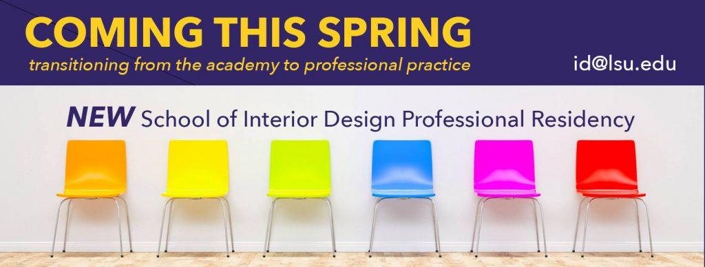 School of Interior Design Professional Residency
