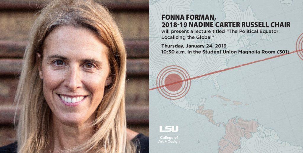 Fonna Forman Lecture Jan. 24, 2019