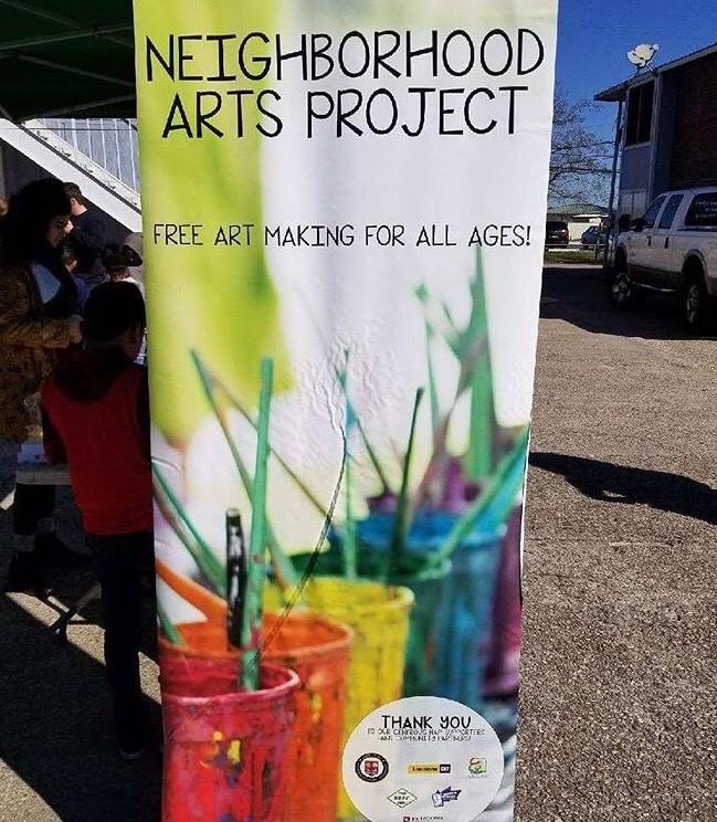 Neighborhood Arts Project sign