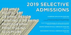 2019 Selective Admission. Slideroom Application Deadline: April 12, 2019