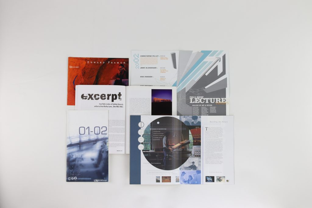 Publications on white background