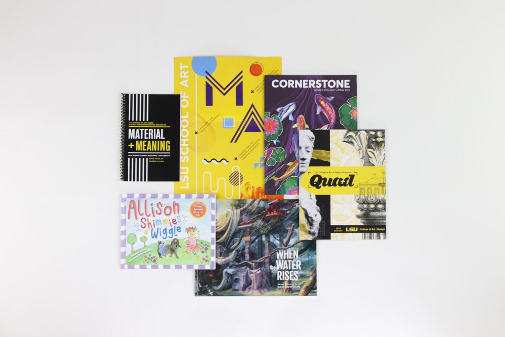 Publications designed by LSU graphic design students