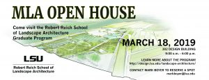 MLA Open House March 18
