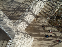 Shadows on steps