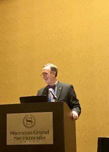 Mark Boyer at podium