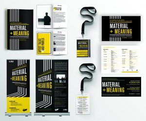 Flyers, brochures, postcards with black and yellow