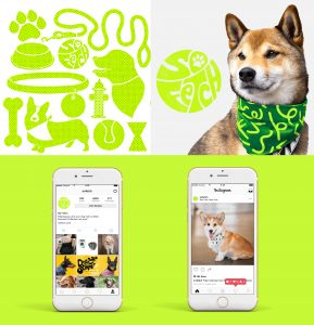 Lime green shapres, dog, Iphone screens