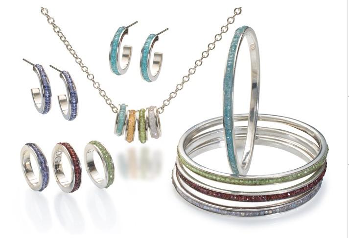 Sparkly colorful bracelets