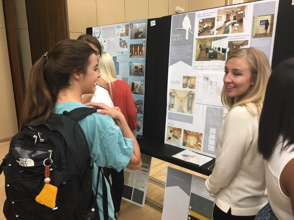Students discuss research at Discover Day
