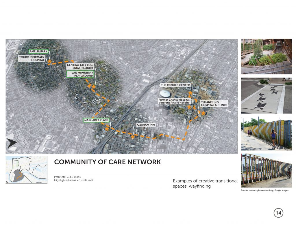 Community of Care Network map