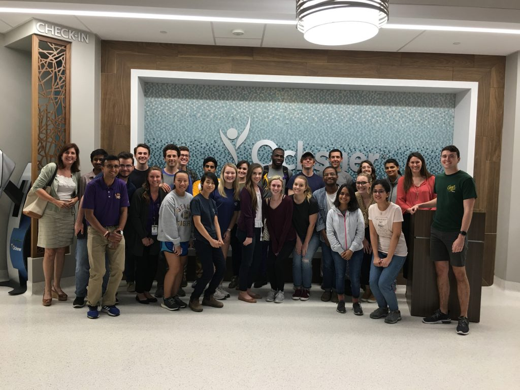 Students visit healthcare facility