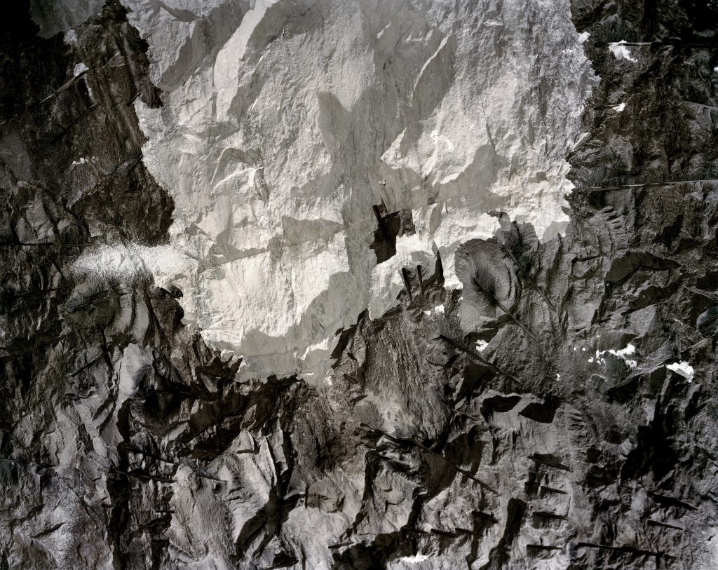 Textured crags in cave-like setting