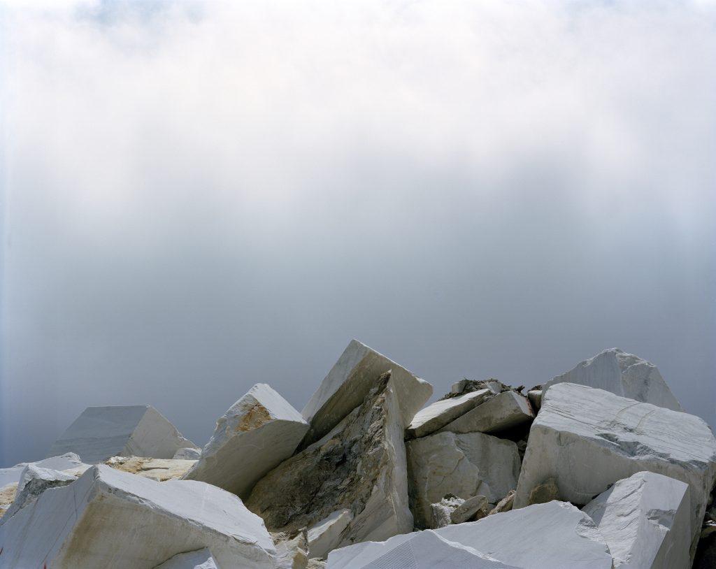 Boulders under clouds