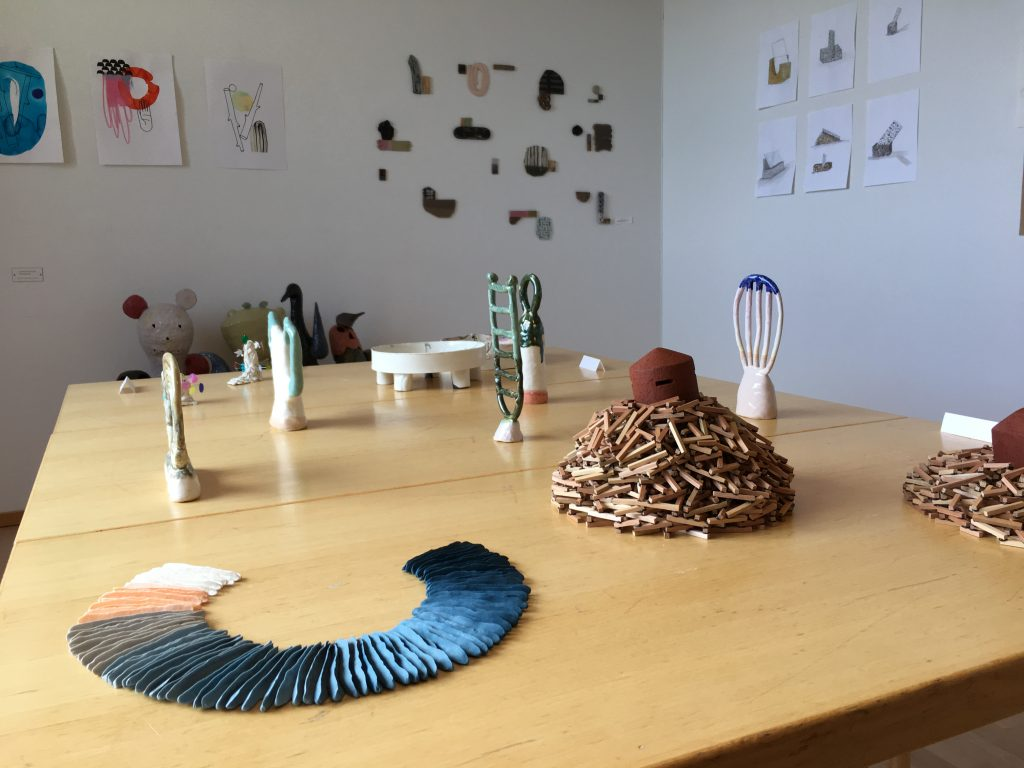 ceramics on table