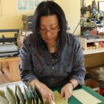 Julie Chen making a book