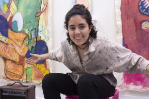 Samantha Rosado in studio