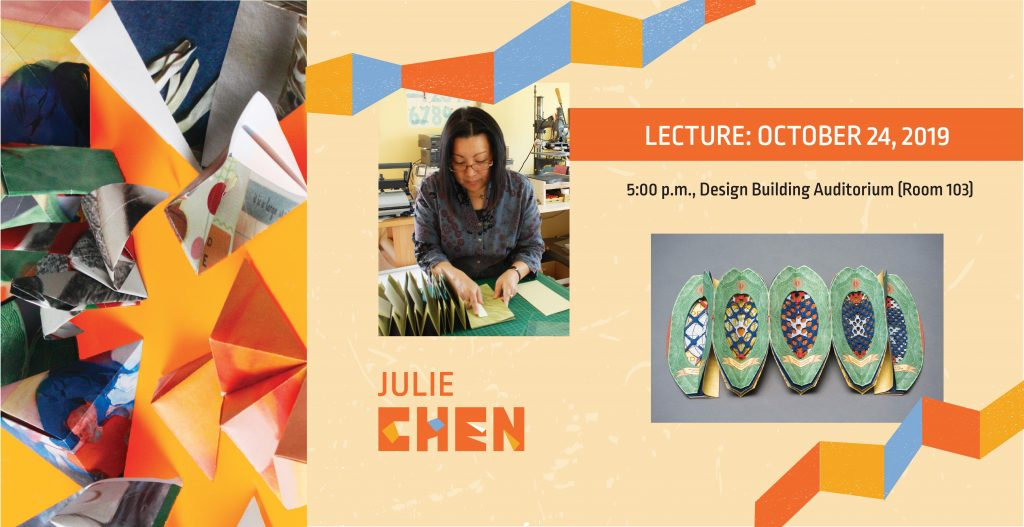 Julie Chen lecture October 24, 2019. Photo of woman with book