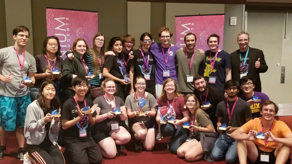 LSU Students at Chillennium competition