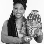 Erica Witt with African mask