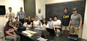 Landscape architecture students and professionals in classroom